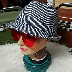 Pinstriped, FOREVER 21 fedora!